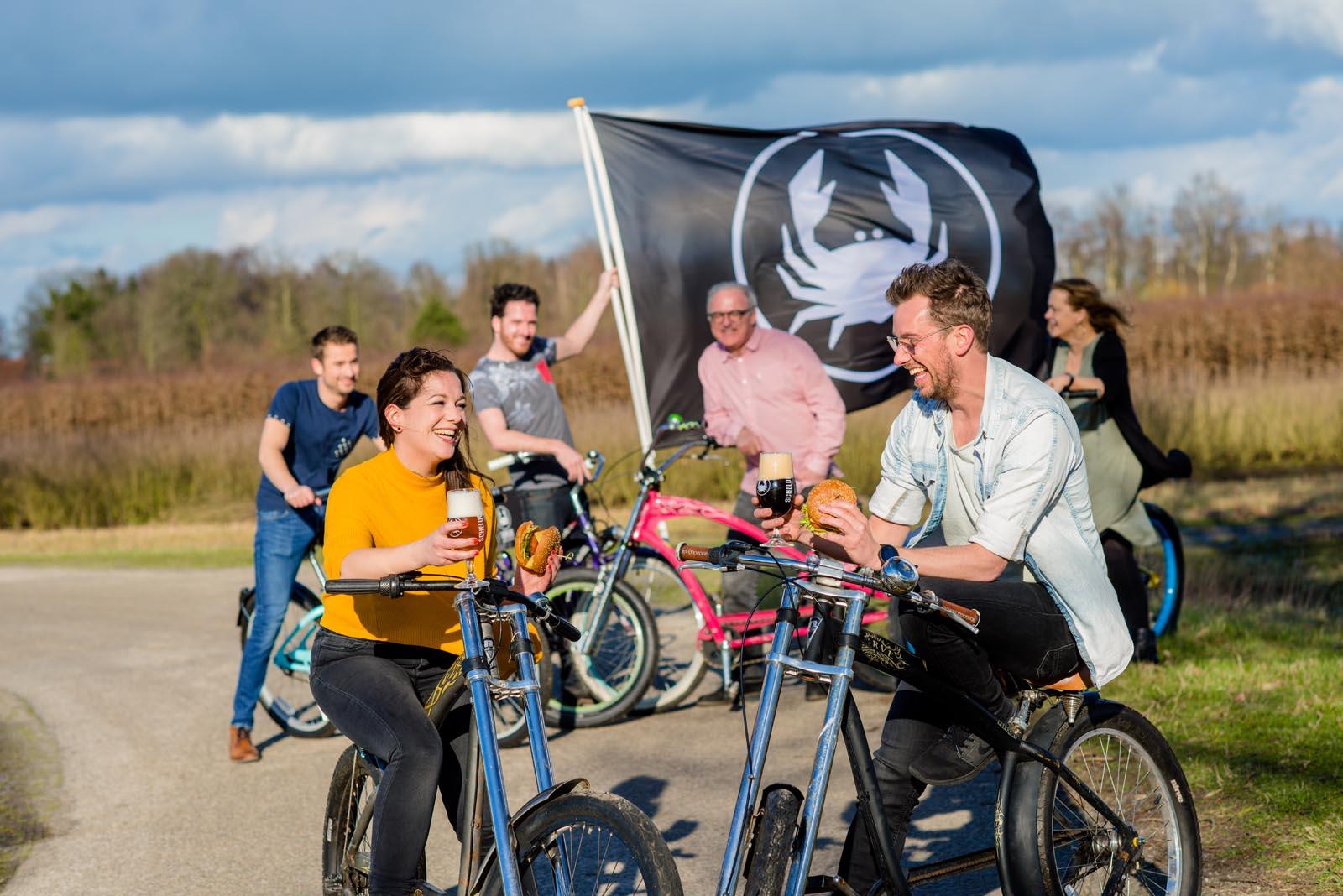 Scheldebrouwerij easy riders tour met vlag
